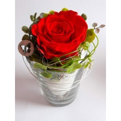 Long Life Rose small Glass