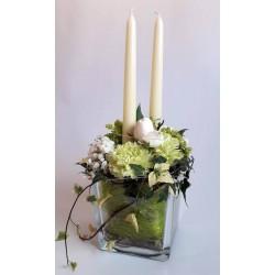 Kerzengesteck für Tisch