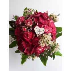 Dark Pink Polyantha Roses...